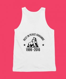 Rest In Peace Harambe Unisex Tank Top