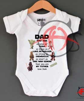 Funny Dad Star Wars Baby Onesie