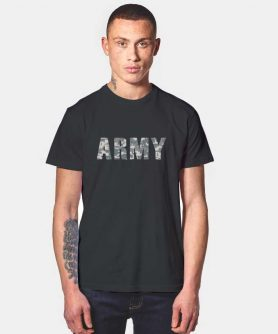 Army Camo Tumblr T Shirt