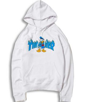 Donald Duck Thrasher Collab Hoodie