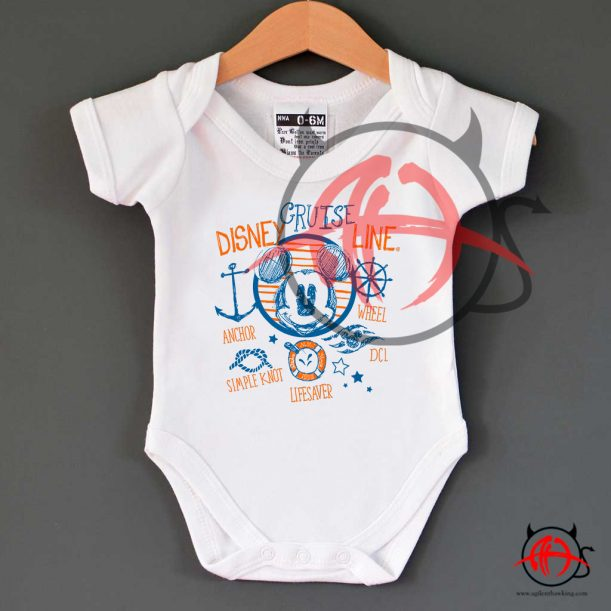 Disney Cruise Line Mickey Mouse 611x611 Disney Cruise Line Mickey Mouse Baby Onesie