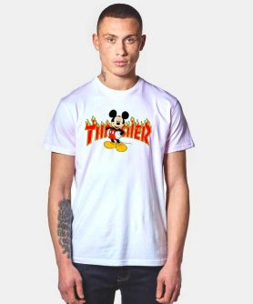 Mickey Mouse X Thrasher Parody T Shirt