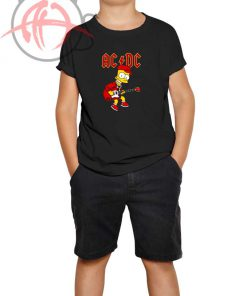ACDC Bart Simpson Youth T Shirt