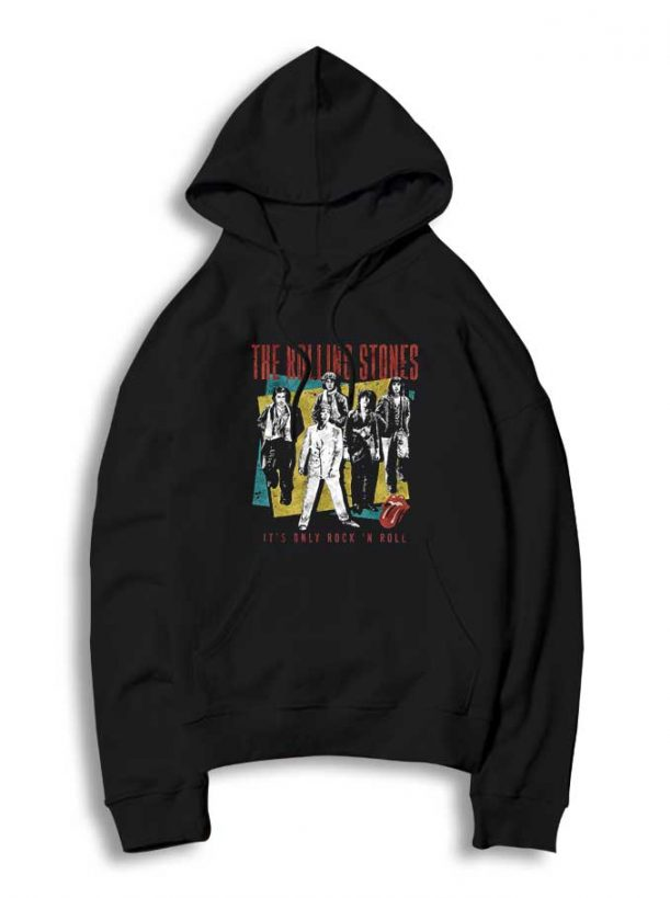 Rock N Roll Band 611x819 Rolling Stones Rock N Roll Band Hoodie