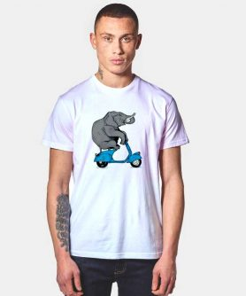 Funny Elephant Motorcycle Ride T Shirt