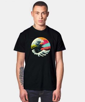 Retro Wave Kaiju T Shirt