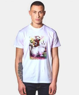 Marvel Deadpool Cat Unicorn T Shirt