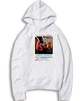Lets Dance Japanese Text David Bowie Hoodie