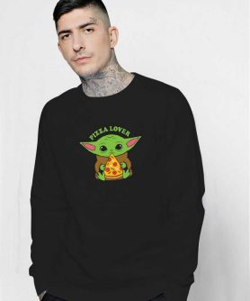 Baby Yoda Pizza Lovers Sweatshirt